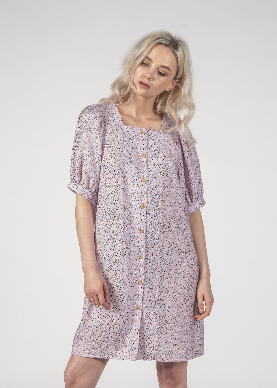 Thing Thing Small Talk Dress Lilak Speckle