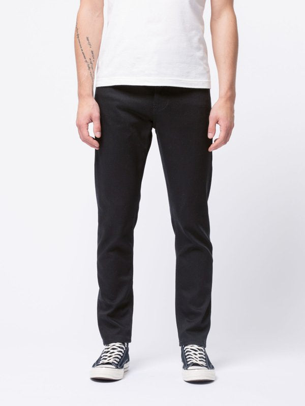 Nudie Steady Eddie II Dry Ever Black - Stencil