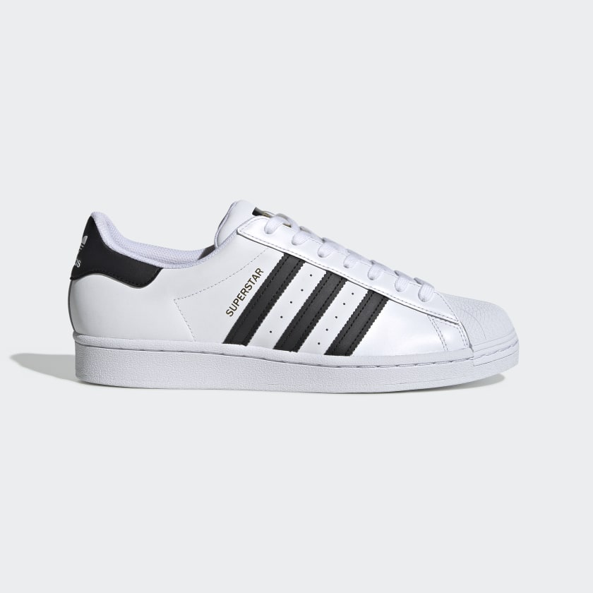 Adidas Superstar White/Black/White - Stencil