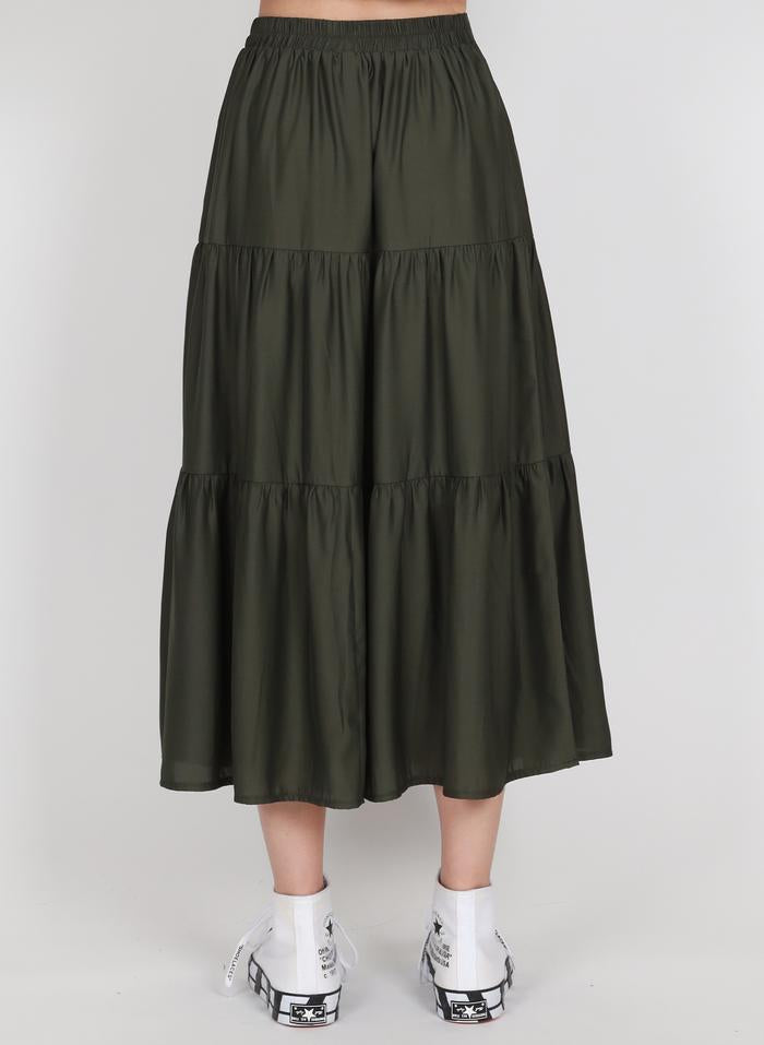 Federation Tier Skirt Olive