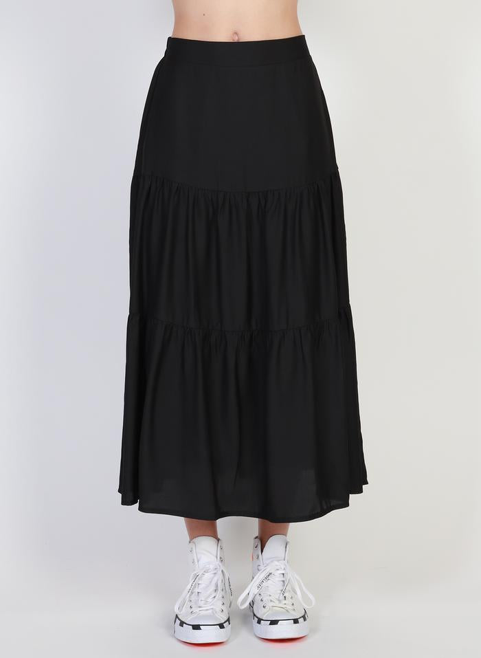 Federation Tier Skirt Black