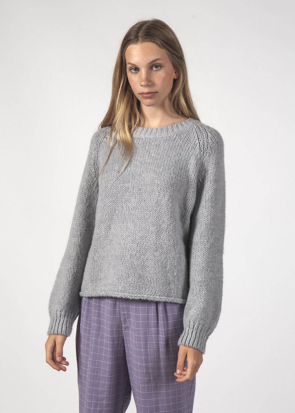 Thing Thing Milo Jumper Soft Grey - Stencil