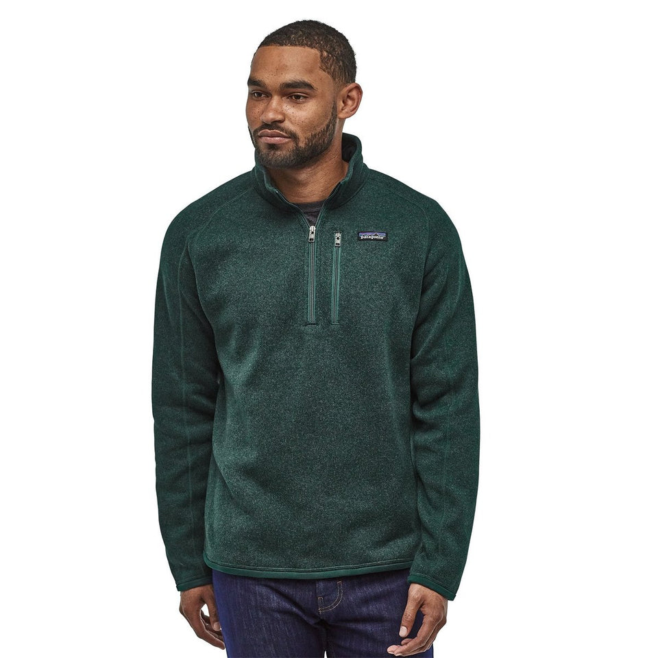 Patagonia Mens Better Sweater 1/4 Zip Piki Green - Stencil