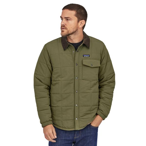 Patagonia Isthmus Quilted Shirt Jacket Industrial Green