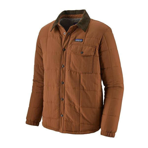 Patagonia Isthmus Quilted Shirt Jacket Sisu Brown
