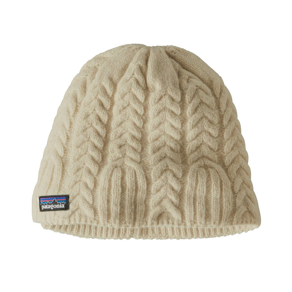 Patagonia Womens Cable Beanie Birch White - Stencil