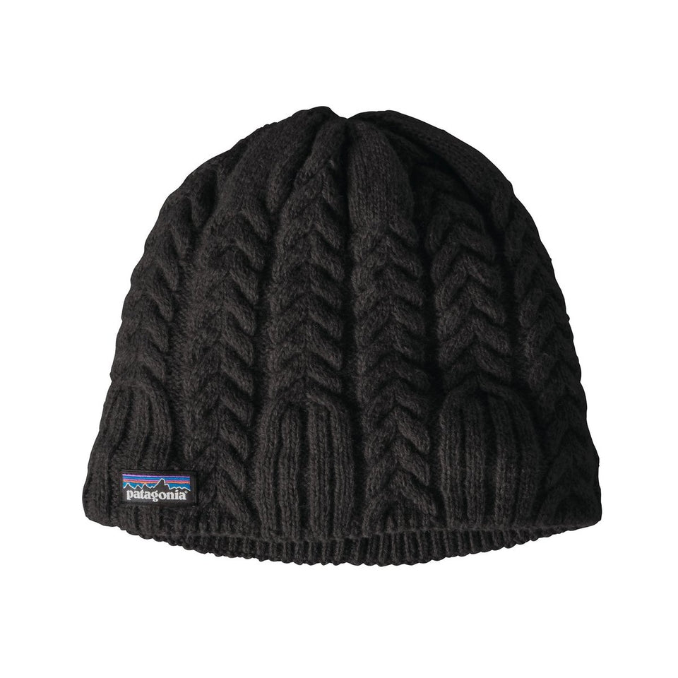 Patagonia Womens Cable Beanie Black - Stencil