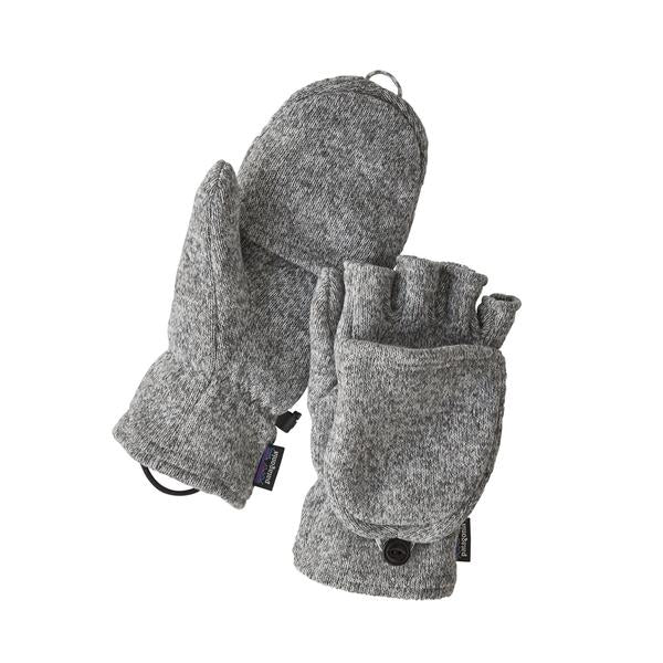 Patagonia Better Sweater Gloves Birch White - Stencil