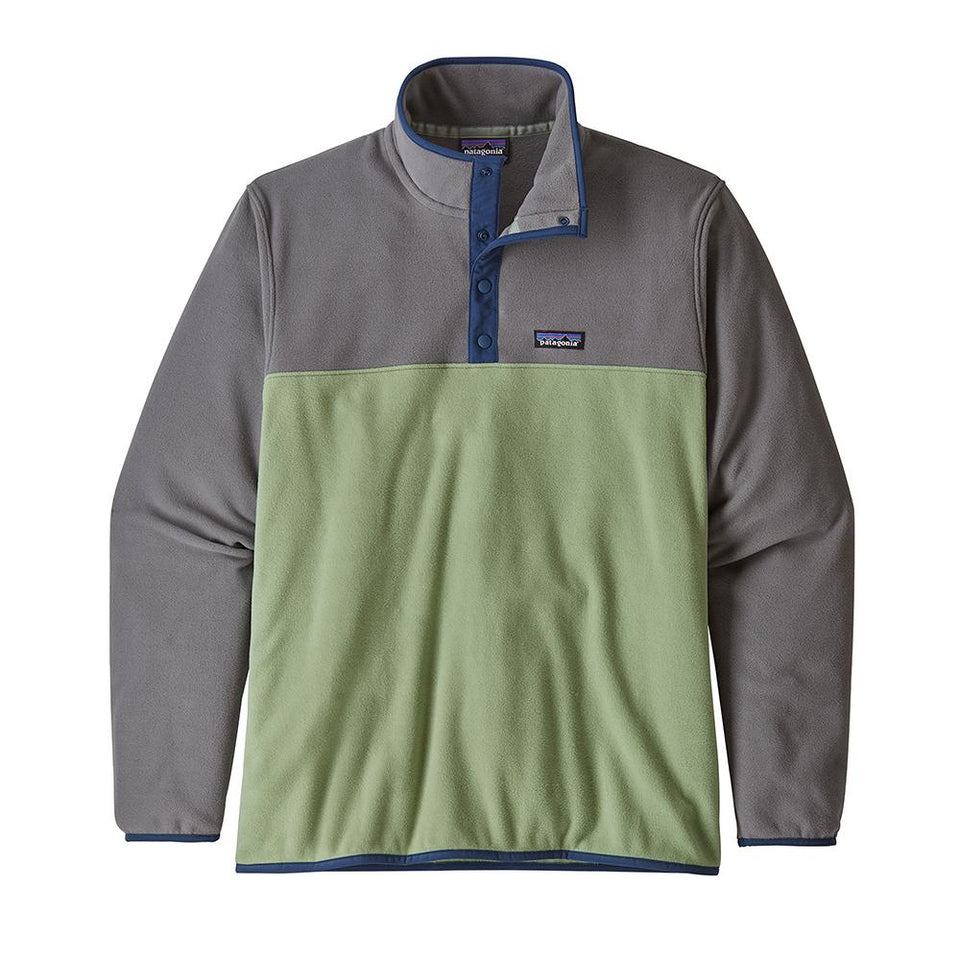 Patagonia Men's Micro D Snap-T Pull Over Matcha Green - Stencil