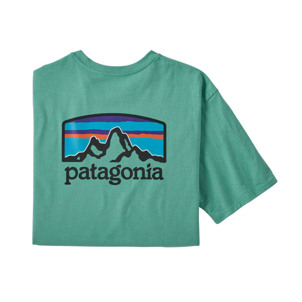 patagonia Fitz Roy Horizons Tee Light Beryl Green