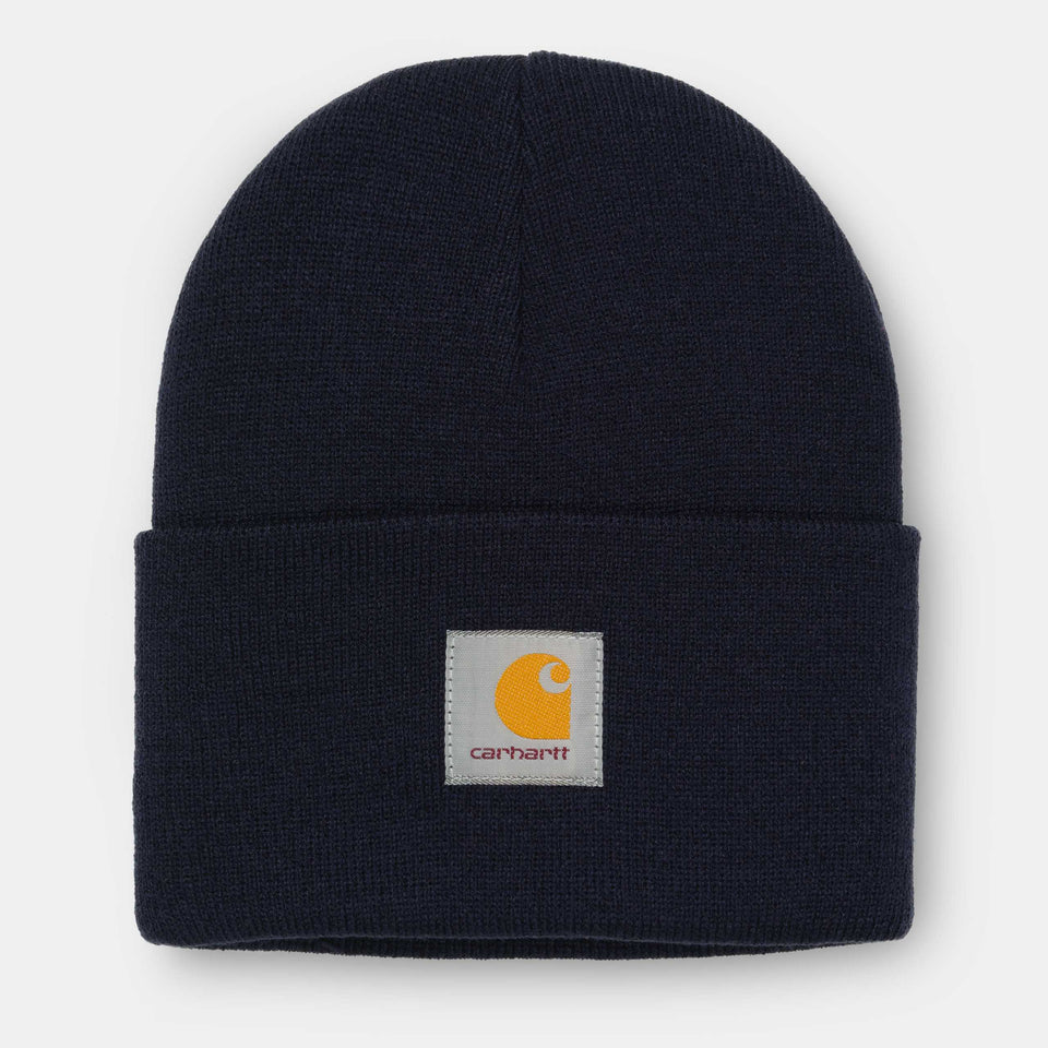 Carhartt Acrylic Watch Hat Dark Navy - Stencil
