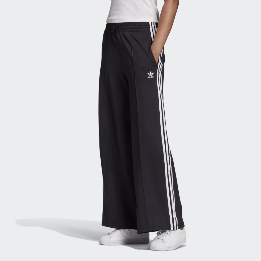 Adidas Primeblue Relaxed Wide Leg Pants Black