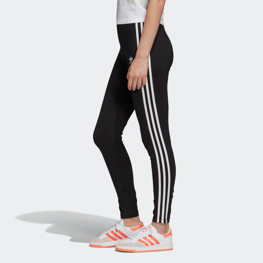 Adidas 3 Stripe Tight Black/White