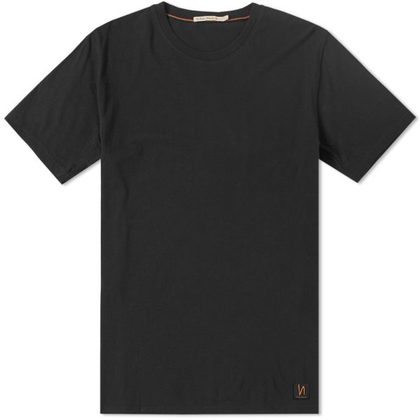 Nudie Anders Tee Black - Stencil