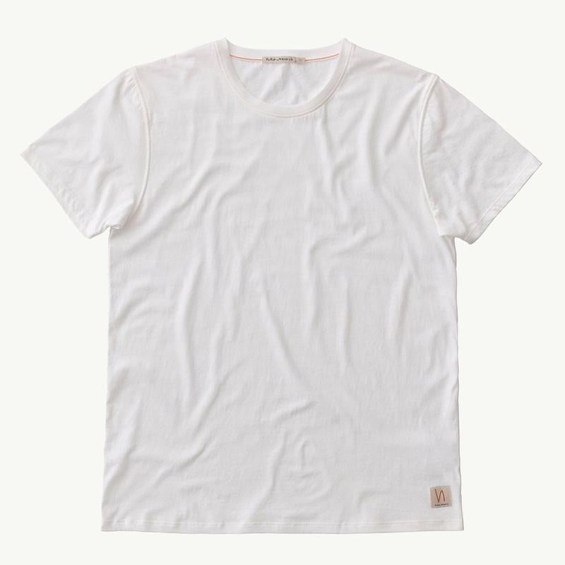 Nudie Anders Tee Off White - Stencil