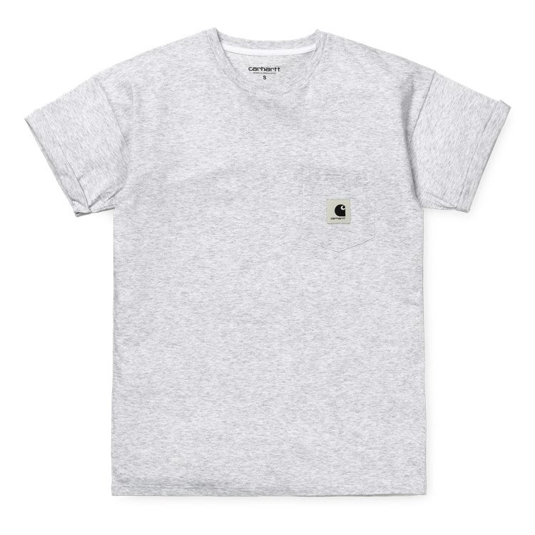 Carhartt W S/S Carrie Pocket Tee Ash Heather  / White