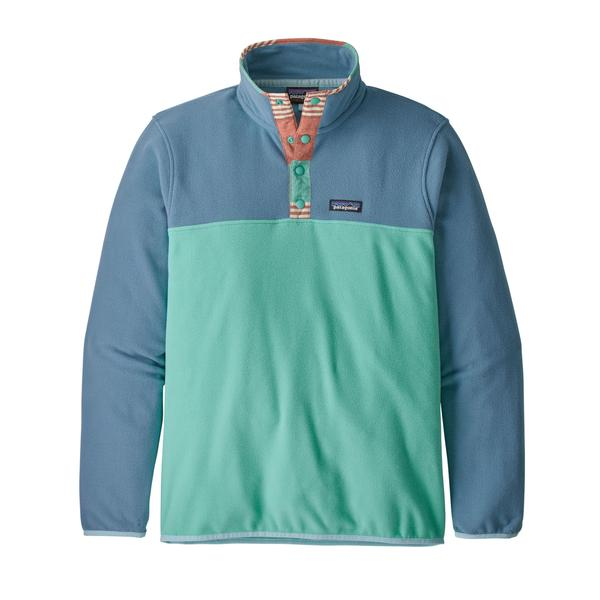 Patagonia Micro D Snap-T Pull Over Light Beryl Green - Stencil