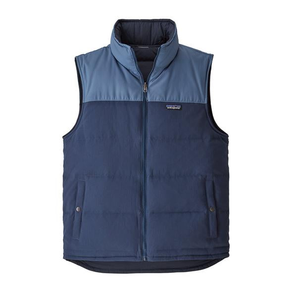 Patagonia Men's Reversible Bivy Down Vest Stone Blue/Woolly Blue - Stencil