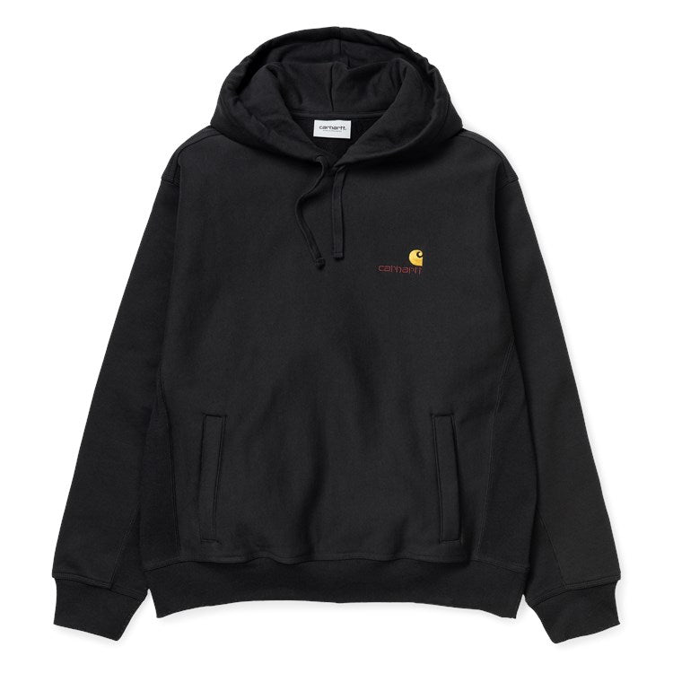 Carhartt Hooded American Script Sweat Black - Stencil