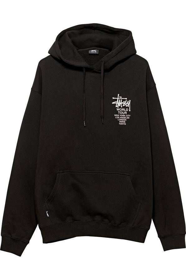 Stussy World Tour Hood Black - Stencil