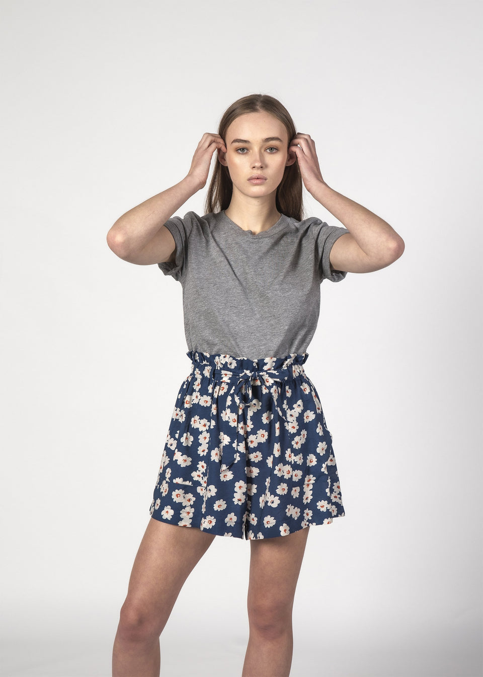 Thing Thing Wonder Shorts Navy Bloom - Stencil