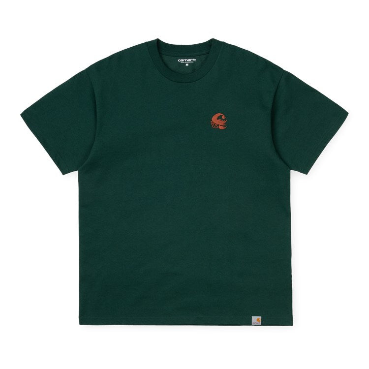 Carhartt S/S Scorpions C T-Shirt Bottle Green/Cinnamon