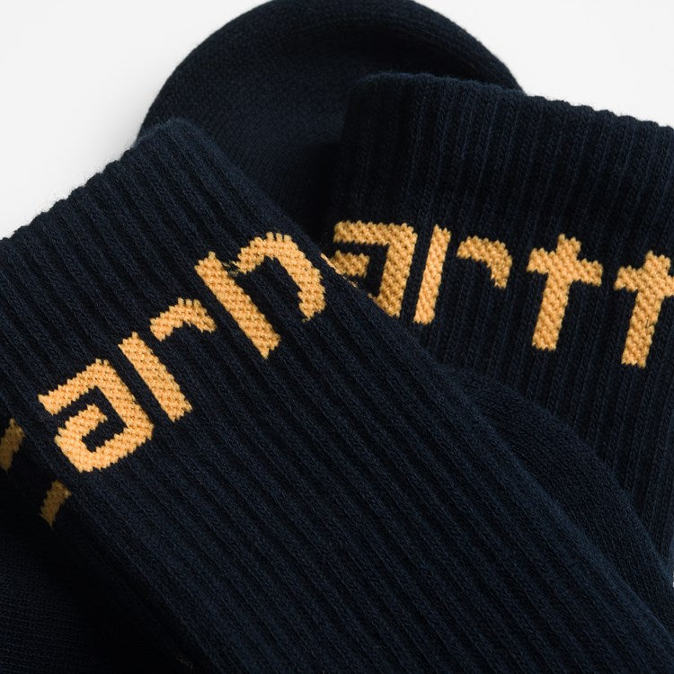 Carhartt Socks Dark Navy, Pop orange