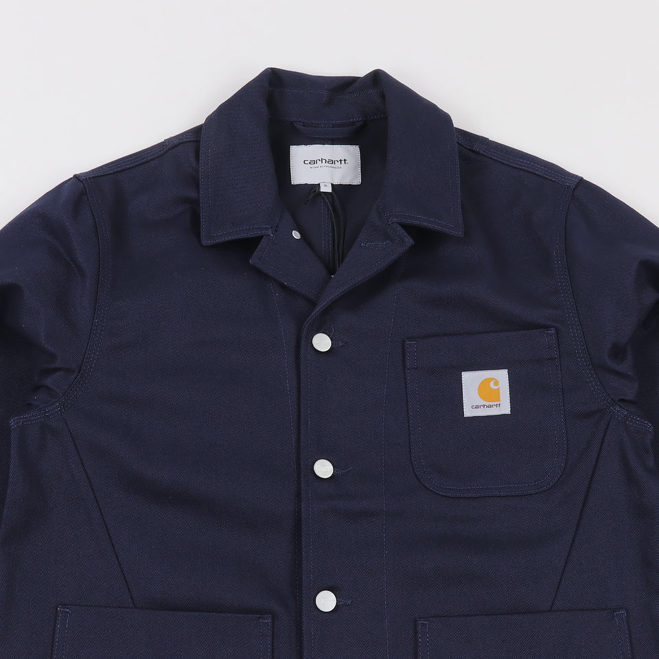 Carhartt Chalk Jacket Dark Navy Rigid - Stencil