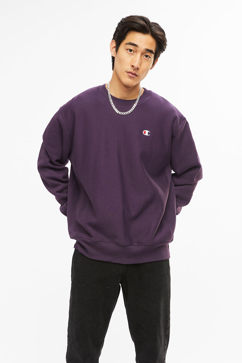 Champion Reverse Weave Crew Purple Pebble