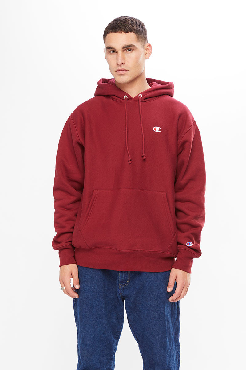 Champion Reverse Weave Hood Sepia Red