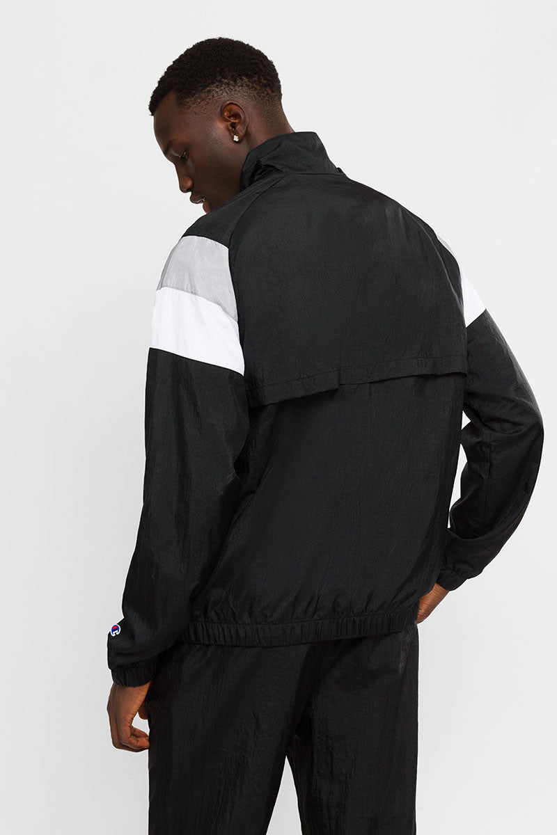 Champion Nylon Warm Up Jacket Black - Stencil