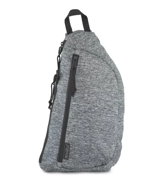 Jansport City Sling Black Woven Knit - Stencil