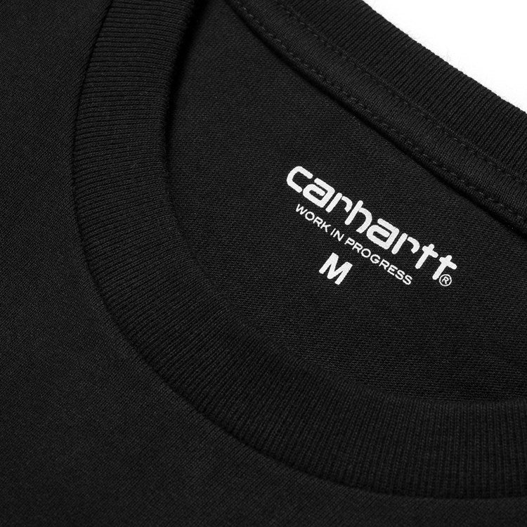 Carhartt Short Sleeve College Script T Shirt Black/ White - Stencil