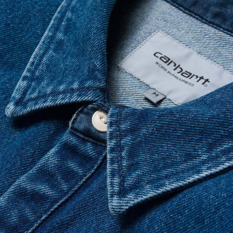 Carhartt Salinac Shirt Jacket Blue Stone Washed - Stencil