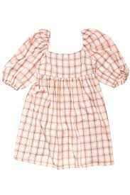 Stussy Thurman Babydoll Dress Pink Check