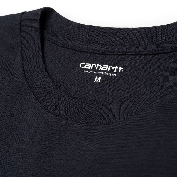 Carhartt Short Sleeve Script T Shirt Dark Navy/ White - Stencil