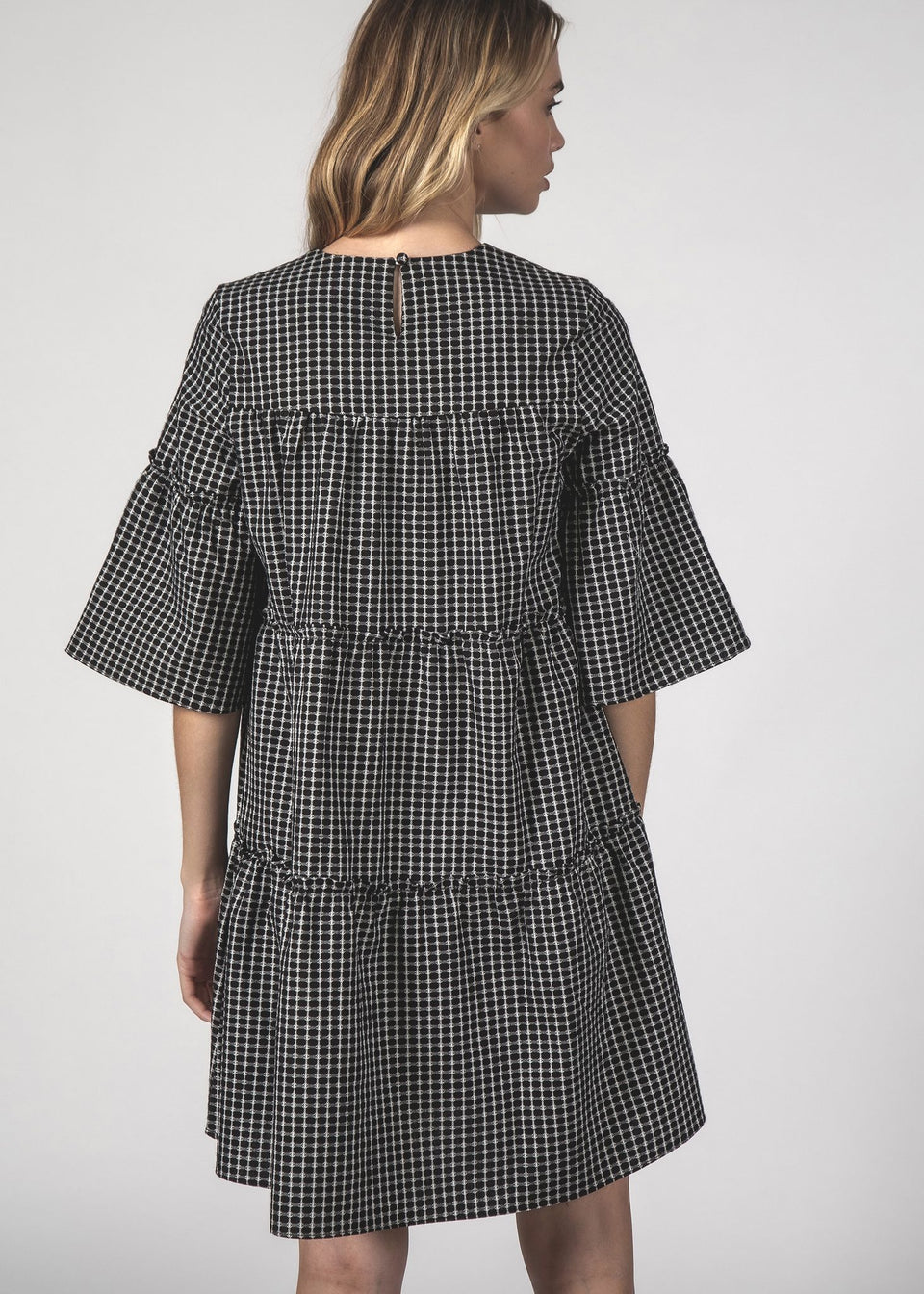 Thing Thing Easygoing Dress Black Crosshatch