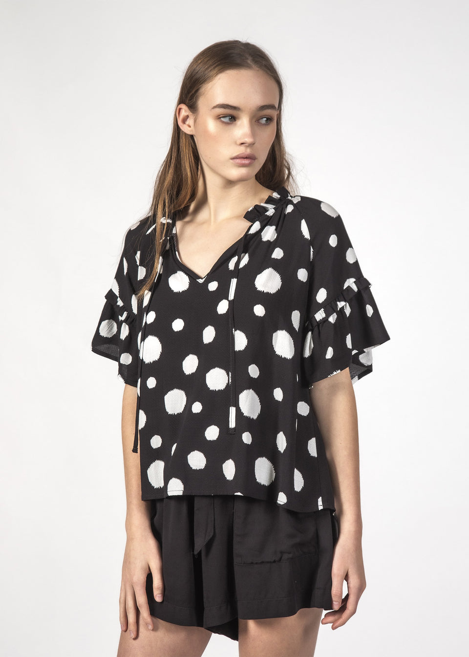 Thing Thing Eve Top Black Dotty - Stencil