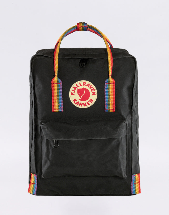 Fjallraven Kanken Backpack Black - Rainbow Pattern