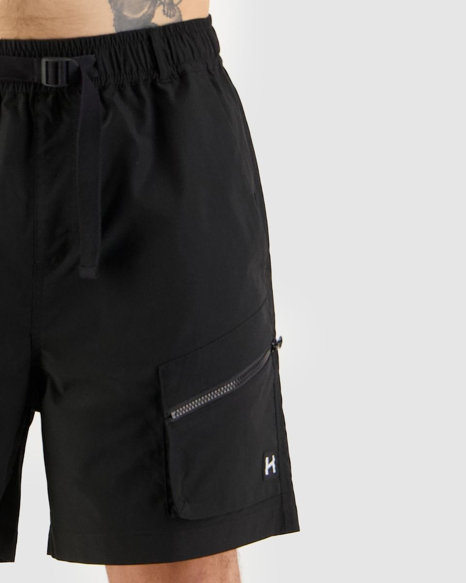 Huffer Mens Hike Short - Black