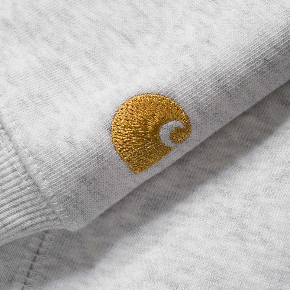 Carhartt Hooded Chase Sweatshirt Ash Heather/Gold - Stencil