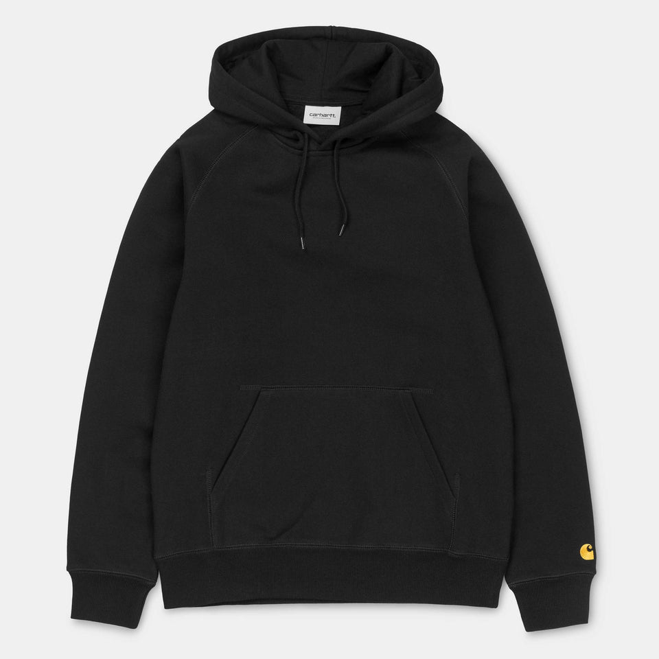 Carhartt Hooded Chase Sweatshirt Black/Gold - Stencil