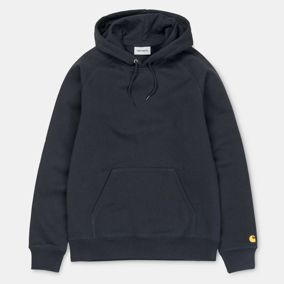 Carhartt Hooded Chase Sweatshirt Dark Navy/Gold - Stencil