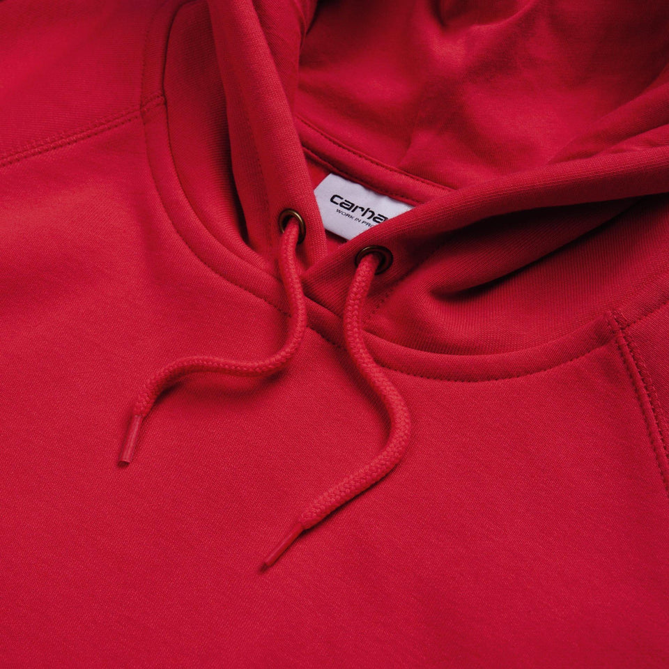 Carhartt Hooded Chase Sweat Etna Red/Gold - Stencil