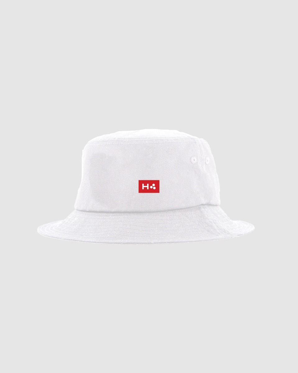 Huffer Bucket Hat/3 Ball White