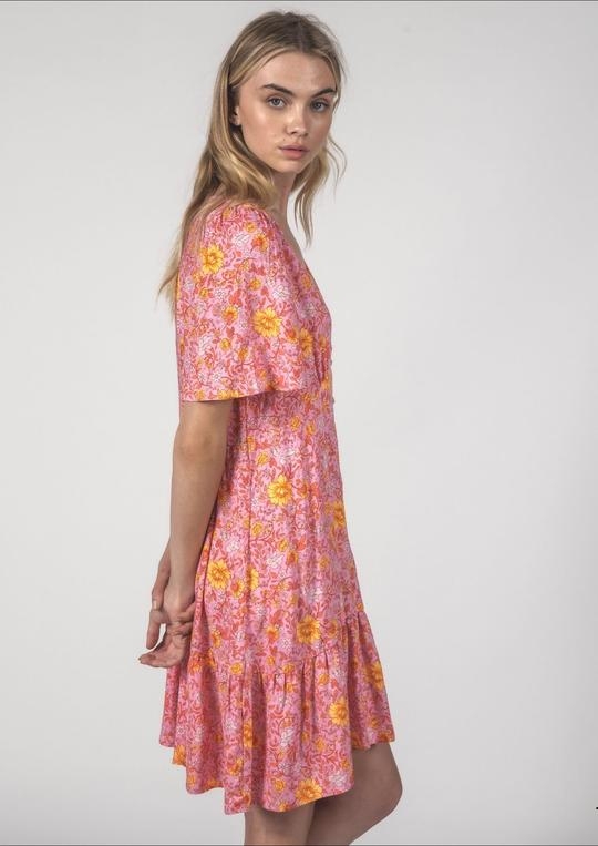 Thing Thing Happy Times Dress Floral Pink