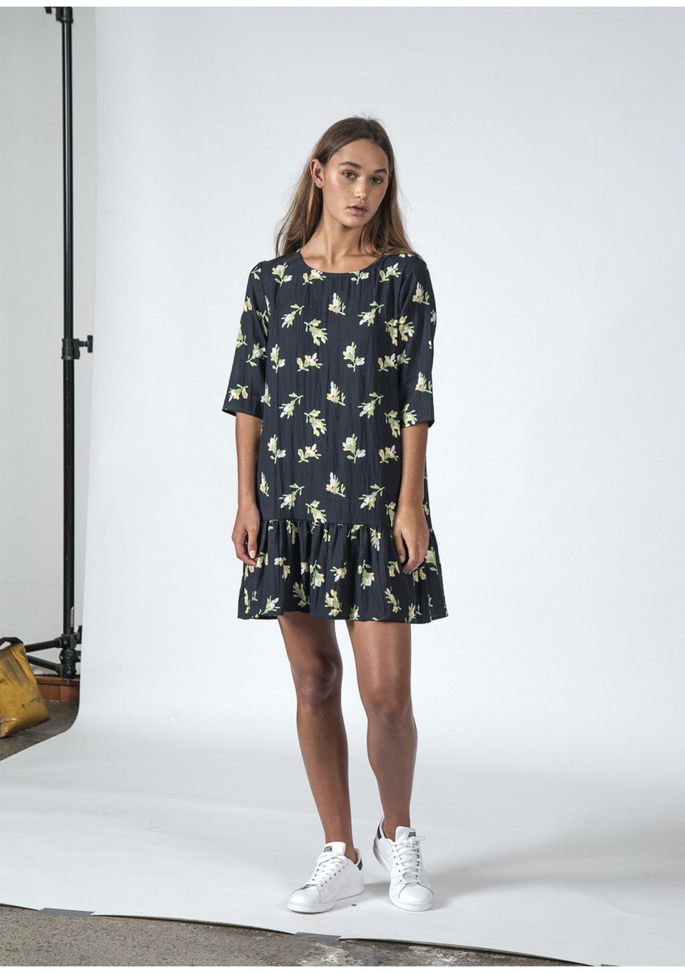 Thing Thing Phoebe Dress Jasmin Floral - Stencil