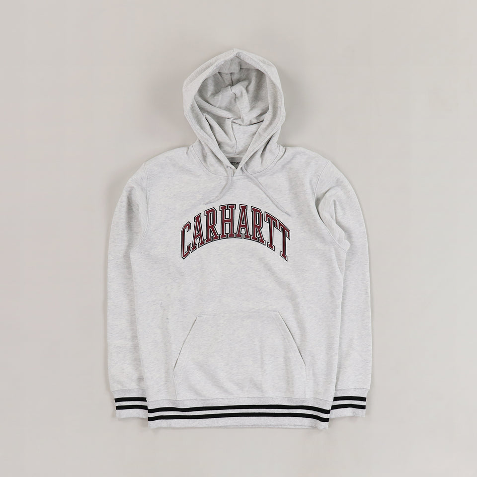 Carhartt Hooded Knowledge Sweat Ash Heather - Stencil