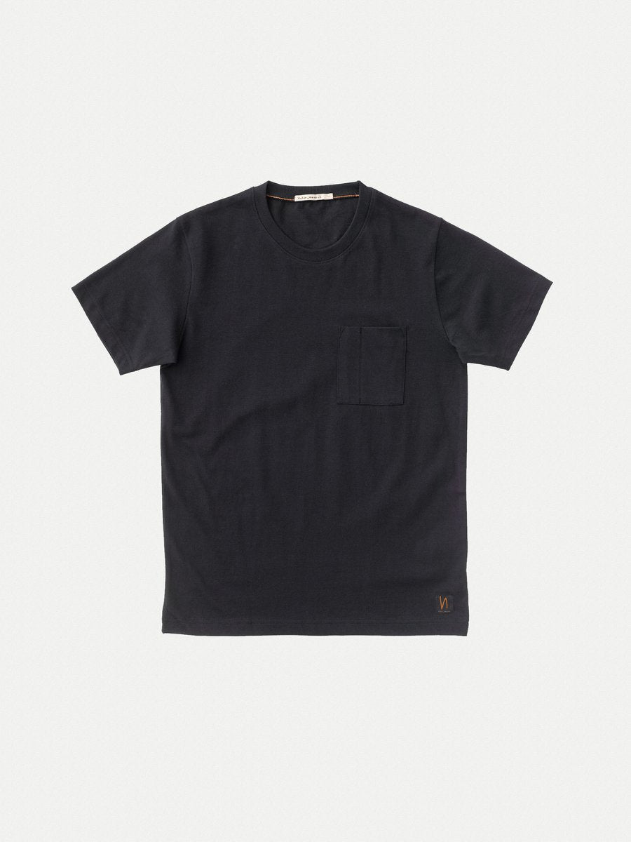 Nudie Kurt Worker tee Black - Stencil