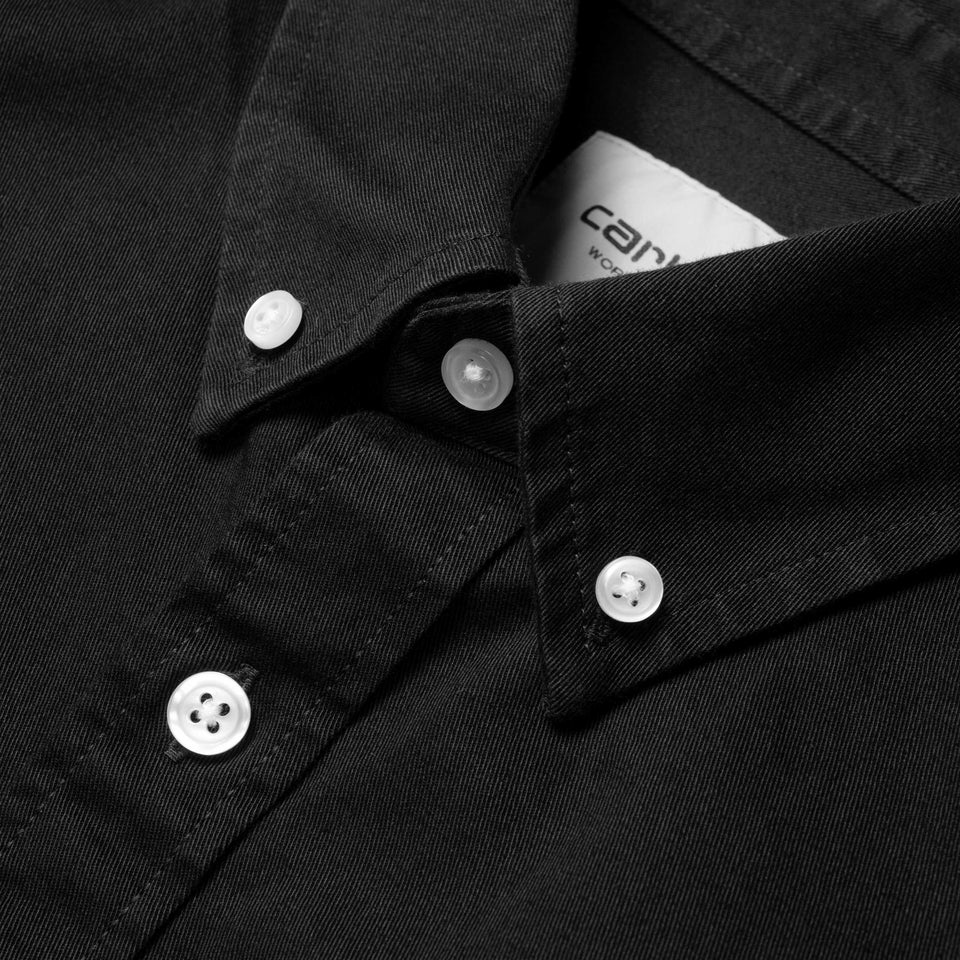 Carhartt L/S Madison Shirt Black/White